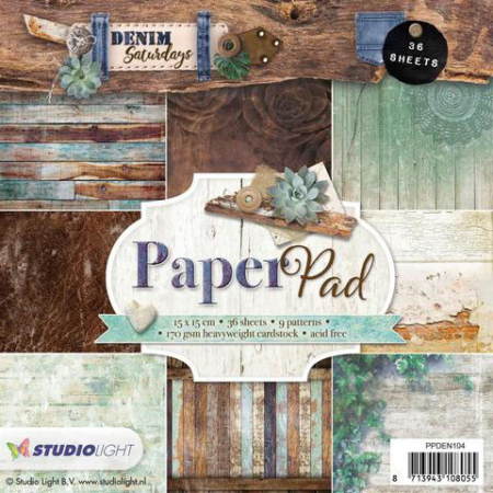 Studio Light - Paper Pad - Denim Saturday - PPDEN104