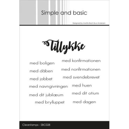 Simple and Basic Stempel - Tillykke - SBC028