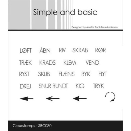 Simple and Basic Stempel - Interaktive tekster - SBC030