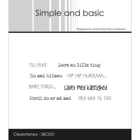 Simple and Basic Stempel - Bare en lille ting... - SBC031