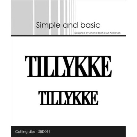 Simple and Basic Dies - TILLYKKE - SBD019