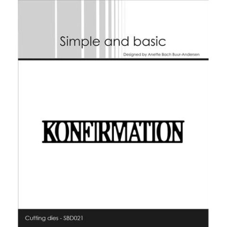 Simple and Basic Dies - Konfirmation - SBD021