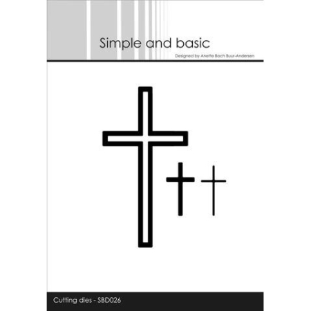 Simple and Basic Dies - Set off cross - solid - SBD026