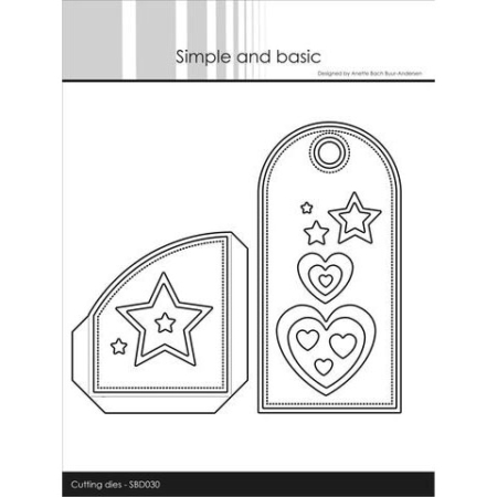 Simple and Basic Dies - Tag for gift card w/add ons - SBD030