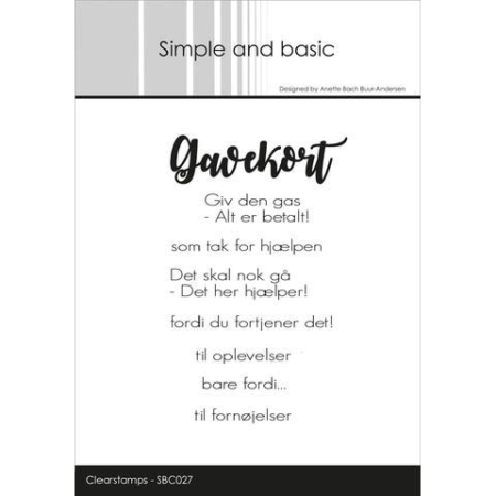 Simple and Basic Stempel - Gavekort - SBC027