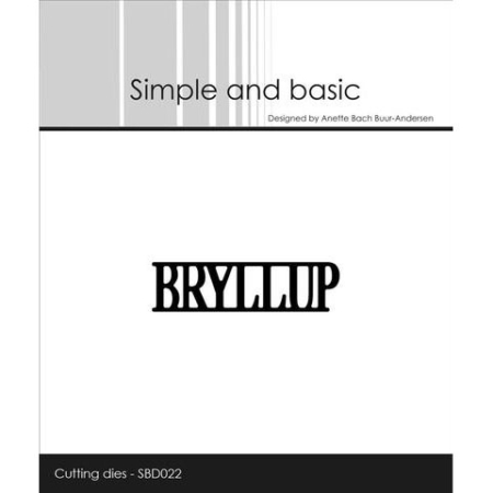 Simple and Basic Dies - Bryllup - SBD022