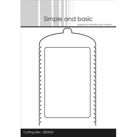 Simple and Basic Dies - Zipper w/gift card - SBD024