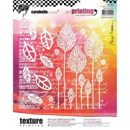 Carabelle Studio Art Printing Rubber Texture Plate - Abstract Flowers