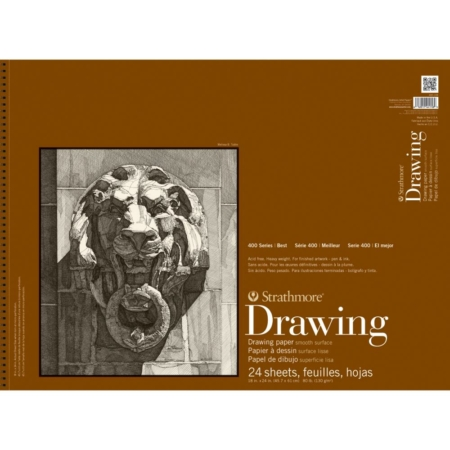 "Strathmore Smooth Drawing Spiral Paper Pad 18""X24"" - 400-108"