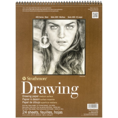 "Strathmore Drawing - Spiral Paper Pad 11""X14"" - 400-5"