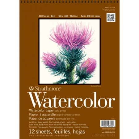 "Strathmore Watercolor Paper Pad 9""X12"" - 440-1"