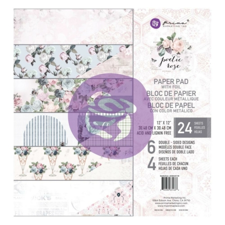 "Prima Marketing - Poetic Rose Pad pad 12""X12"" 631666"