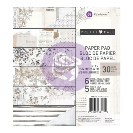 "Prima Marketing Pretty Pale - Paper Pad 6""X6"""