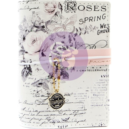 "Prima Marketing Pretty Pale - Traveler's Journal Passport Size 4.2""X 5.3"""