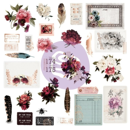Prima Marketing - Midnight Garden Ephemera Die-Cuts - 636043