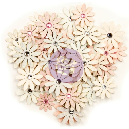 Prima Marketing - Poetic Rose Paper Flowers Harmony W/Glitter