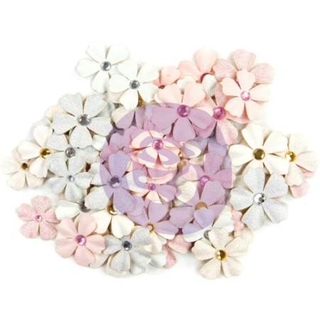 Prima Marketing - Poetic Rose Paper Flowers Allegria W/Glitter