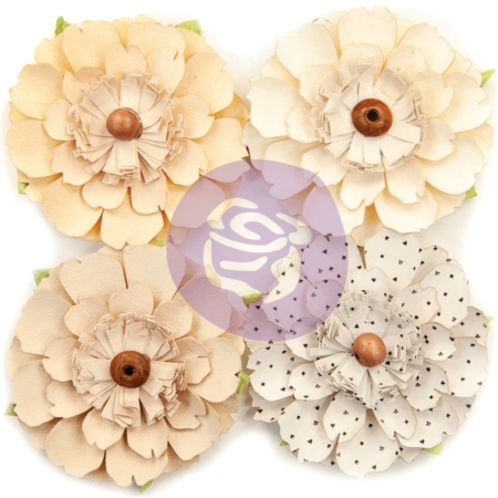 Prima Marketing - Pretty Pale - Paper Flowers - Neutral Beauty
