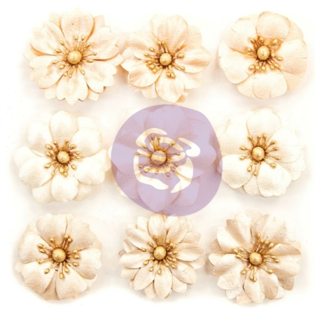 Prima Marketing Pretty Pale Paper Flowers - Barren W/Pealized Finish