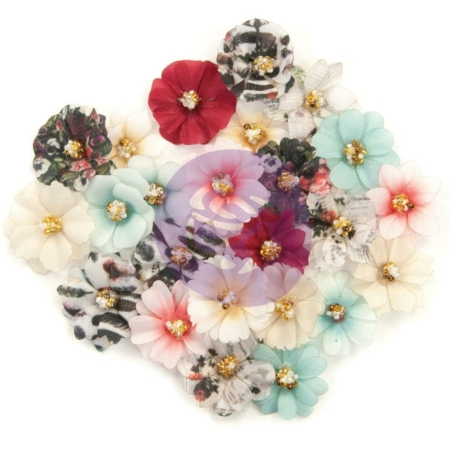 Prima Marketing - Midnight Garden - Garden Fabric Flowers
