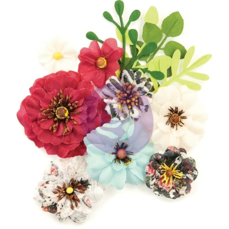 Prima Marketing - Midnight Garden - Mulberry Paper Flowers