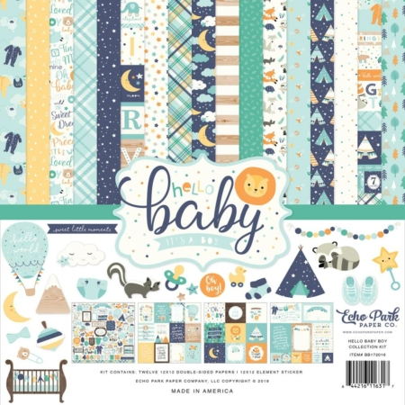 Echo Park Collection Pack - Hello Baby Boy - BB172016