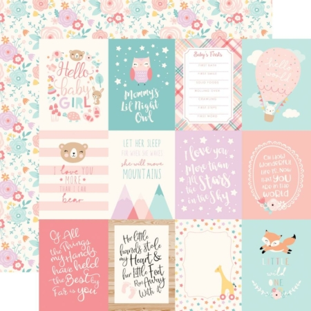 "Echo Park Paper - 3""X4"" Journaling Cards Girl - BG171002"