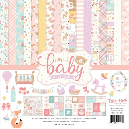 Echo Park Collection Pack - Hello Baby Girl - BG171016