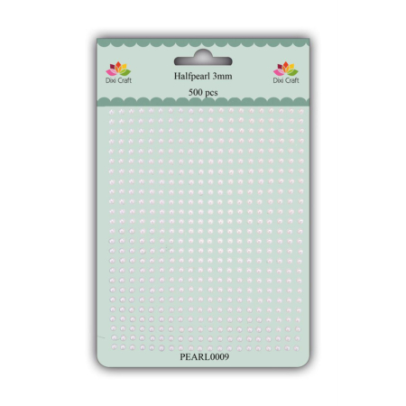 DIXI CRAFT HALVPERLE - 3 MM - White - PEARL0009
