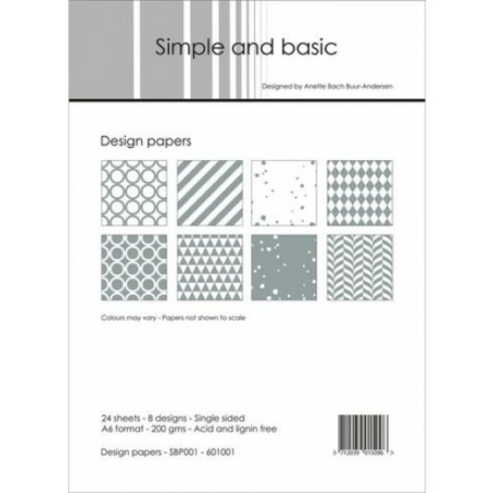 Simple and basic - Design papers - A6 - SBP001