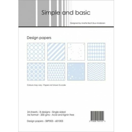 Simple and basic - Design papers - A6 - SBP003