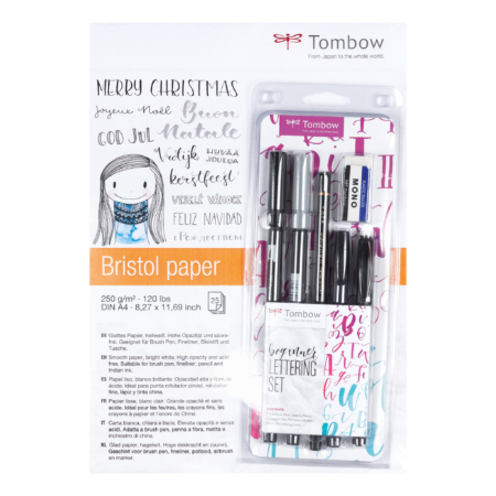 TOM15110 Tombow Skitseblok+Handlettering Tombow Set