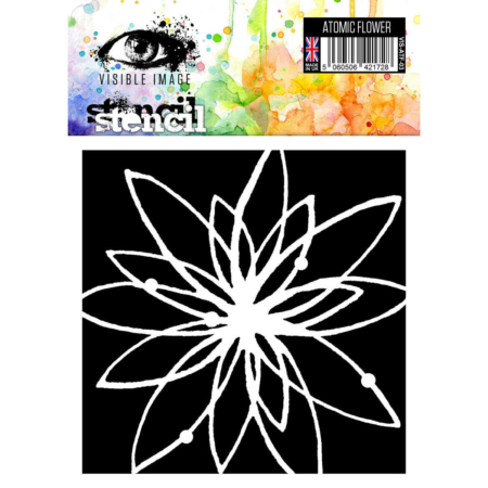 VISIBLE IMAGE Stencil - Atomic Flower - VIS-ATF-03
