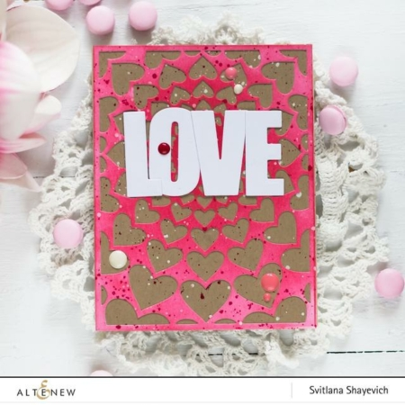 Altenew Die - Radial Hearts Cover Die - ALT2946