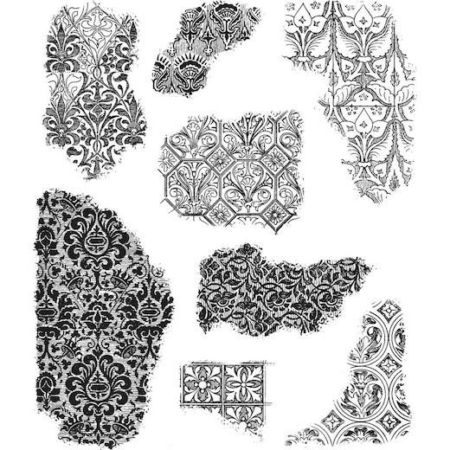 Tim Holtz Cling Stamps set - Fragments - CMS368