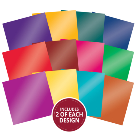 "Hunkydory - Mirri Pad 8""x 8"" - Brilliant Brights"