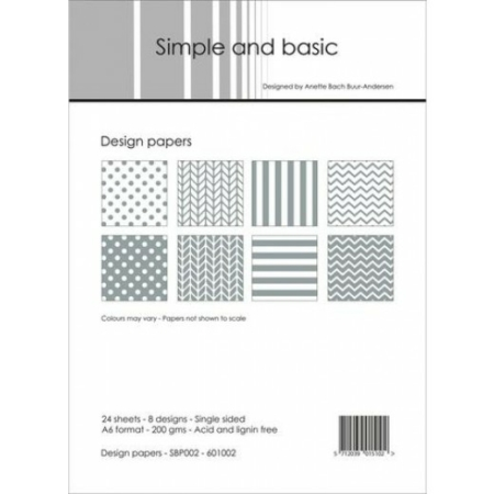 Simple and basic - Design papers - A6 - SBP002