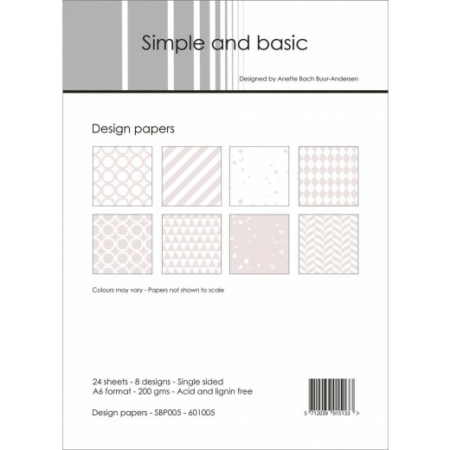 Simple and basic - Design papers - A6 - SBP005