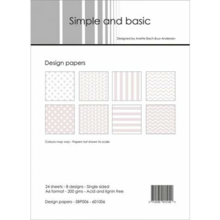 Simple and basic - Design papers - A6 - SBP006