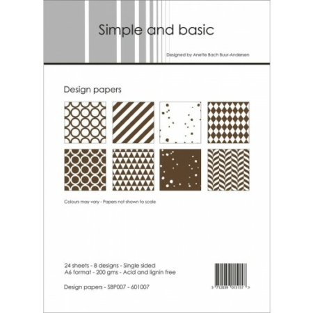 Simple and basic - Design papers - A6 - SBP007