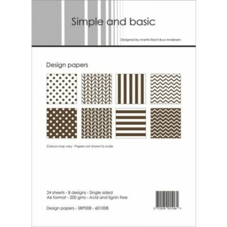 Simple and basic - Design papers - A6 - SBP008