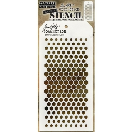 Tim Holtz - Layered Stencil - Gradient Hexagon - THS117