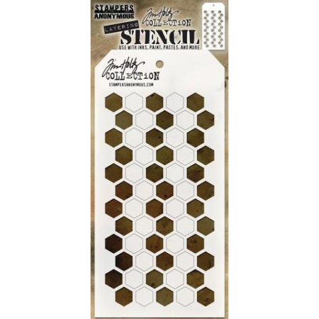 Tim Holtz - Layered Stencil - Shifter Hex - THS121