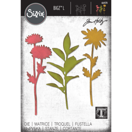 664170 Sizzix Bigz XL – Tim Holtz – Large Stems – 664170