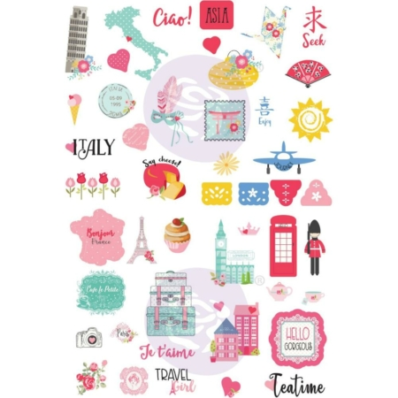 Prima - Julie Nutting Traveling Girl Ephemera Cardstock Die-cuts