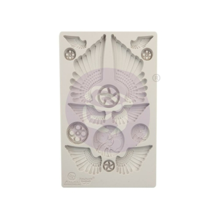 Prima - Finnabair Decor Moulds - Cogs & Wings - 966614