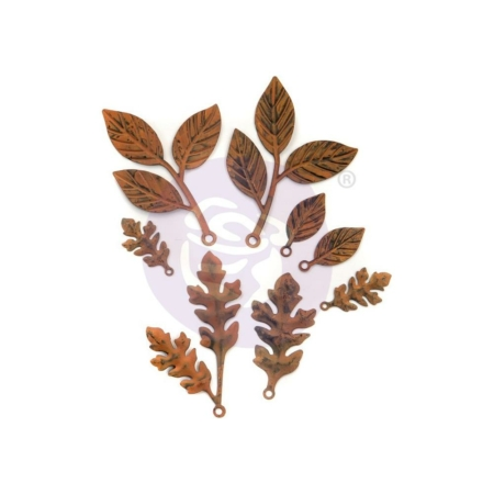 Prima Finnabair Mechanicals Metal Embellishments - Leaves