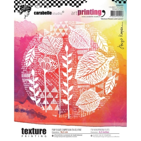 Carabelle Studio Art Printing Round - Abstract Flowers & Leaves