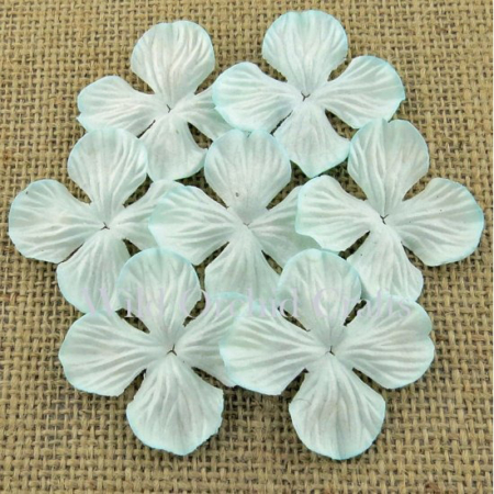 Wild Orchid Crafts - AQUA HYDRANGEA BLOOMS 25mm