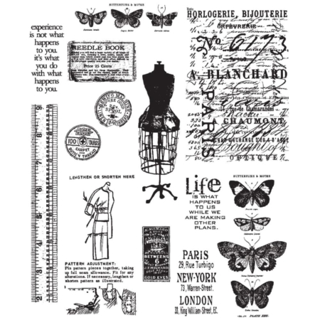 Tim Holtz Cling Stamps set - Attic Treasures - CMS123